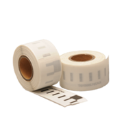 Dymo 99010 compatible labels, transparant, 89mm x 28mm, 130 etiketten, permanent