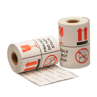 Fragile / Do not stack label, 101,6mm x 101,6mm, 200 etiketten