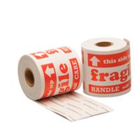 Etiket Fragile, 127mm x 76,2mm, 200 etiketten, permanente lijm