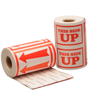 This side up label, 111,2mm x 228,6mm, 100 etiketten, permanent