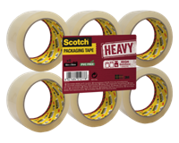 scotch Verpakkingstape  Heavy 50mmx66m transparant 6 rollen