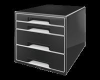 leitz Ladenbox  4 laden zwart