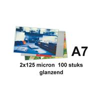 Lamineerhoes  A7 2x125micron 100stuks