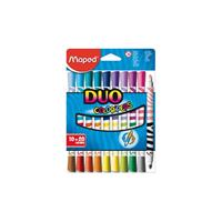 Maped Viltstift  Color'peps duo karton ophangdoos 10stuks