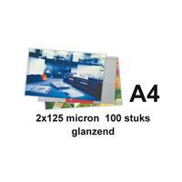 Lamineerhoes  A4 2x125micron 100stuks