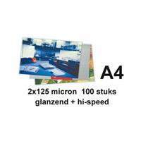 GBC Lamineerhoes  A4 highspeed 2x125micron 100stuks