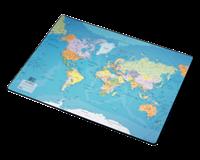Esselte Onderlegger  40x53cm met wereldkaart Nederlands