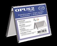 opus2 Tafelnaambord  V-standaard 70mmx100mm acryl