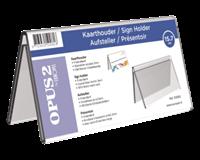 opus2 Tafelnaambord  V-standaard 70mmx150mm acryl