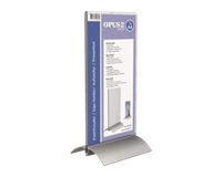 opus2 Kaarthouder  T-standaard 1/3 A4 staand acryl aluminium