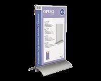 opus2 Kaarthouder  T-standaard A5 staand acryl aluminium