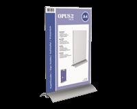 opus2 Kaarthouder  T-standaard A4 staand acryl aluminium