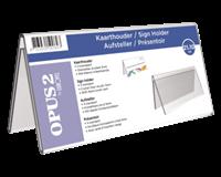 opus2 Tafelnaambord  V-standaard 210x100mm acryl