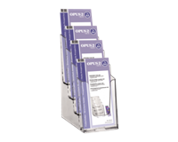 opus2 Folderhouder  4vaks 1/3 A4 transparant