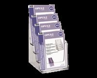 opus2 Folderhouder  4vaks A5 transparant