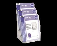 Folderhouder  3vaks A4 transparant