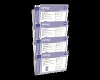 opus2 Folderhouder  A4 wand liggend koppelbaar transparant