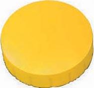 Maul magneet MAULsolid, diameter 24 x 8 mm, geel, doos met 10 stuks