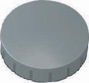 Maul magneet MAULsolid, diameter 24 x 8 mm, grijs, doos met 10 stuks