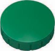 Maul magneet MAULsolid, diameter 24 x 8 mm, groen, doos met 10 stuks