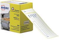 Avery etiketten voor voedselcodering, ft 98 x 40 mm, 1 rol met 300 afscheurbare etiketten in dispenser