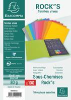 """Exacompta dossiermap ROCK""""S 80, ft 22 x 31 cm, pak van 100, geassorteerde kleuren"""