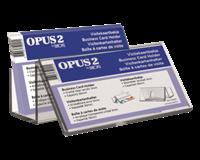 opus2 Visitekaartenbak  bali met voorbeeldvenster acryl