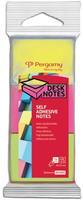 Pergamy notes, ft 38 x 51 mm, pak van 3, neon geel, neon roze en neon groen