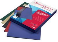 Pergamy omslagen lederlook ft A4, 250 micron, glanzend, pak van 25 stuks, geassorteerde kleuren