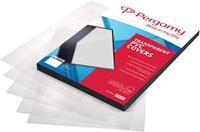 Pergamy omslagen uit PP ft A4, 200 micron, pak van 100 stuks, transparant, voorgeperforeerd