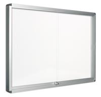 Pergamy glazen vitrine met schuifdeur en magnetische achtergrond ft 15 x A4