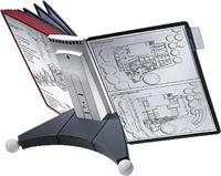 Durable Zichtpaneelhouder Sherpa® Display Inclusief 10 zichtpanelen. rood/zwart