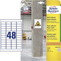 Avery Zweckform Avery-Zweckform L7873-20 Etiketten (A4) 45.7 x 21.2 mm Papier Wit 960 stuks Permanent, Sterk hechtend Zelfklevende etiketten, Multifunctionele etiketten