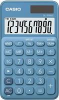 casio SL-310UC zakrekenmachine. 10 cijferig. blauw