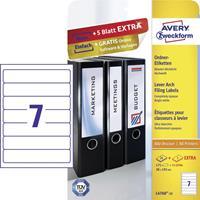 Avery Zweckform L4760-25 ordnerrugetiketten ft 19,2 x 3,8 cm (b x h), 175 etiketten, wit