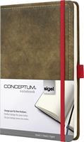 Sigel Notitieboek  Conceptum Vintage A5 lijn bruin