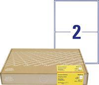 Avery Zweckform Avery-Zweckform 8018-300 Etiketten (A4) 199.6 x 143 mm Papier Wit 600 stuks Permanent Verzendetiketten, Adresetiketten Inkt, Laser, Kopie
