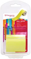 Pergamy Roll notes, ft 10 m x 50 mm, neon geel