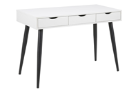 Bureau / sidetableMärta' 110 x 50cm met 3 laden , kleur zwart / wit