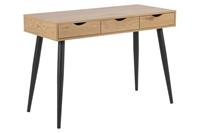 Bureau / SidetableMärta' 110 x 50cm, kleur zwart / eiken