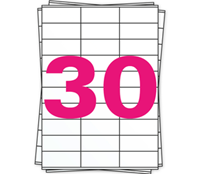 A4 Etiket 4456 compatible, 70mm x 29,7mm, 3000 stuks
