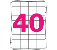 A4 Etiket 4461 compatible, 52,5mm x 29,7mm, 4000 stuks