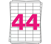 A4 Etiket 4272 compatible, 48,3mm x 25,4mm, 4400 stuks