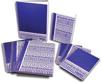 Pergamy Ethnic notitieboek ft A4, gelijnd, blauw