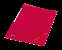 Elba Urban elastomap, voor ft A4, uit PP, transparent roze