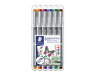 staedtler Fineliner  Pigment 308 assorti 0.5mm set à 6st assorti