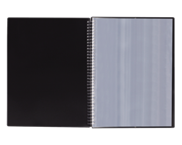 Elba Urban showalbum met spiraal, voor ft A4, 40 tassen, met elastieksluiting, zwart