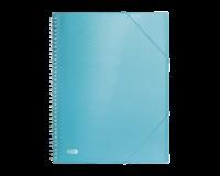 Elba Urban showalbum met spiraal, voor ft A4, 40 tassen, met elastieksluiting, transparant blauw