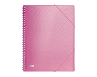 Elba Urban showalbum met spiraal, voor ft A4, 40 tassen, met elastieksluiting, transparant roze