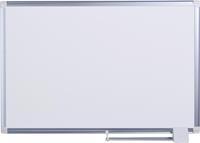 Maya New Generation whiteboard. magnetisch gelakt stalen oppervlak. grijs aluminium frame. 900 x 600 mm